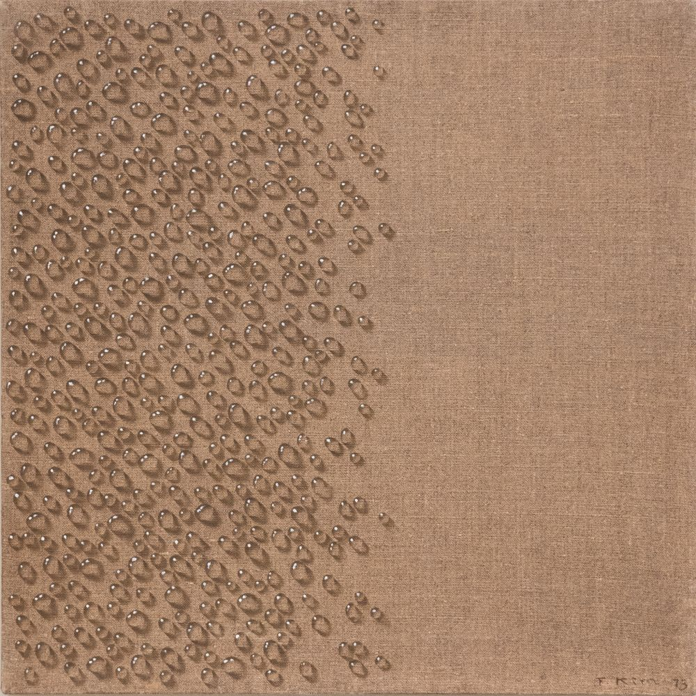 Kim Tschang-Yeul (b. 1929) Water drops, 1973 Oil on Linen