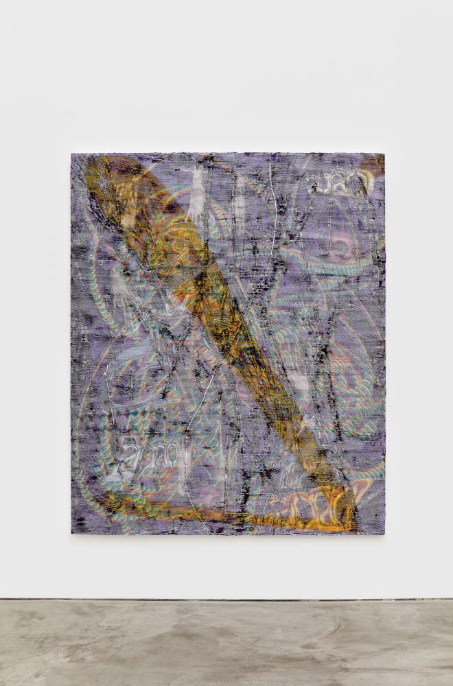 Garth Weiser the mover aka alien christ, 2020 Oil and digital media on canvas 73 x 60 in 185.4 x 152.4 cm (GWE21.001)