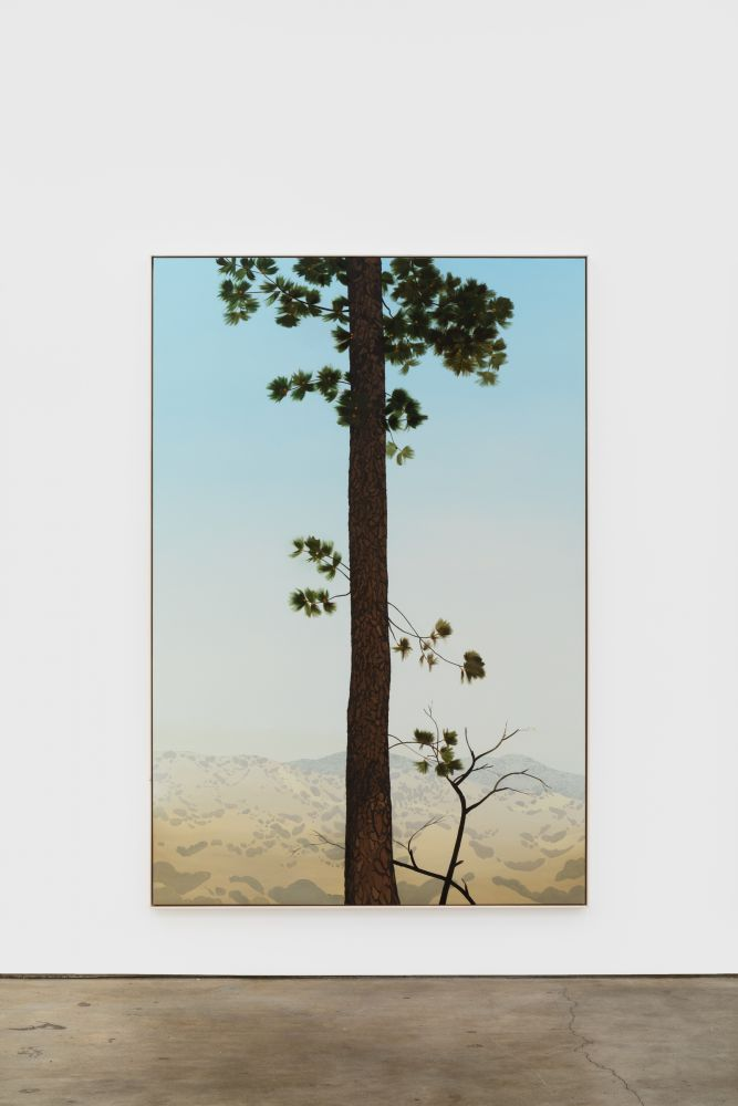 Jake Longstreth In Glendale (Pine 4), 2020 oil on muslin 84 x 57 in (85 x 57.25 in, framed) 213.4 x 144.8 cm (216 x 145.5 cm, framed) (JLO20.006)