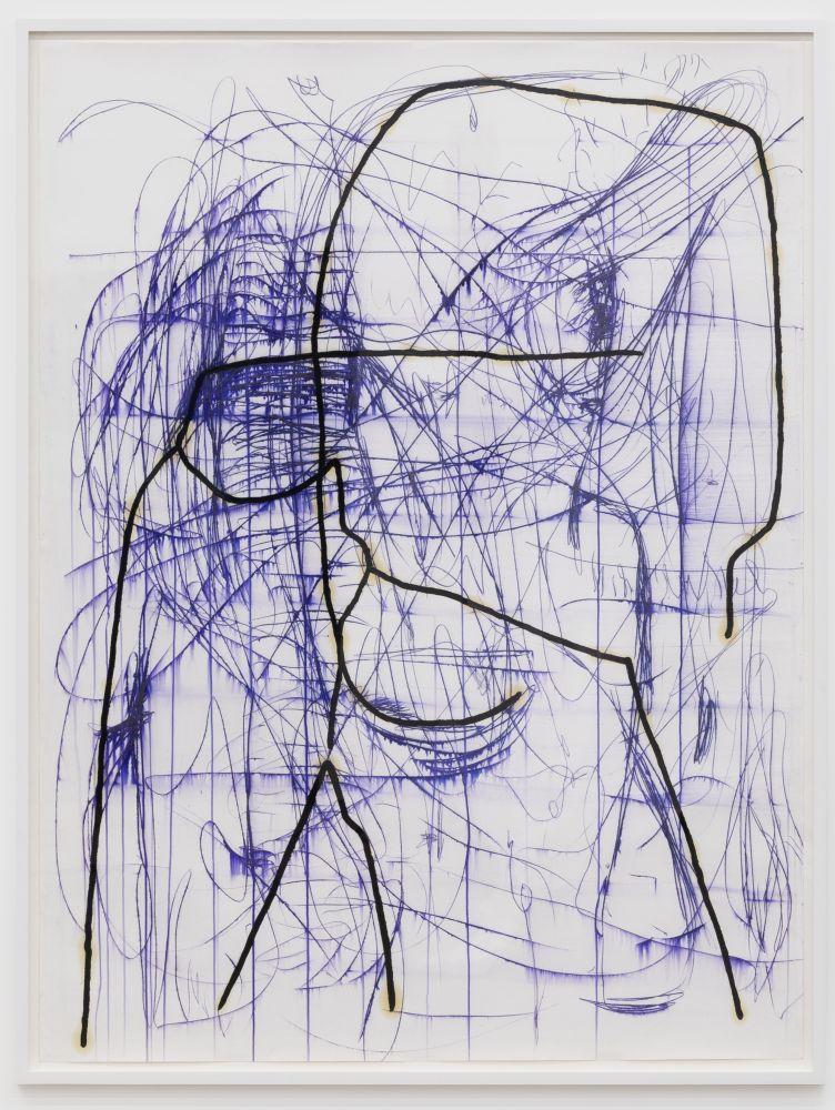 Jana Schröder, PR2, 2017. Copying pencil and oil on paper, 79 x 59 in 200 x 150 cm (JSR17.065)