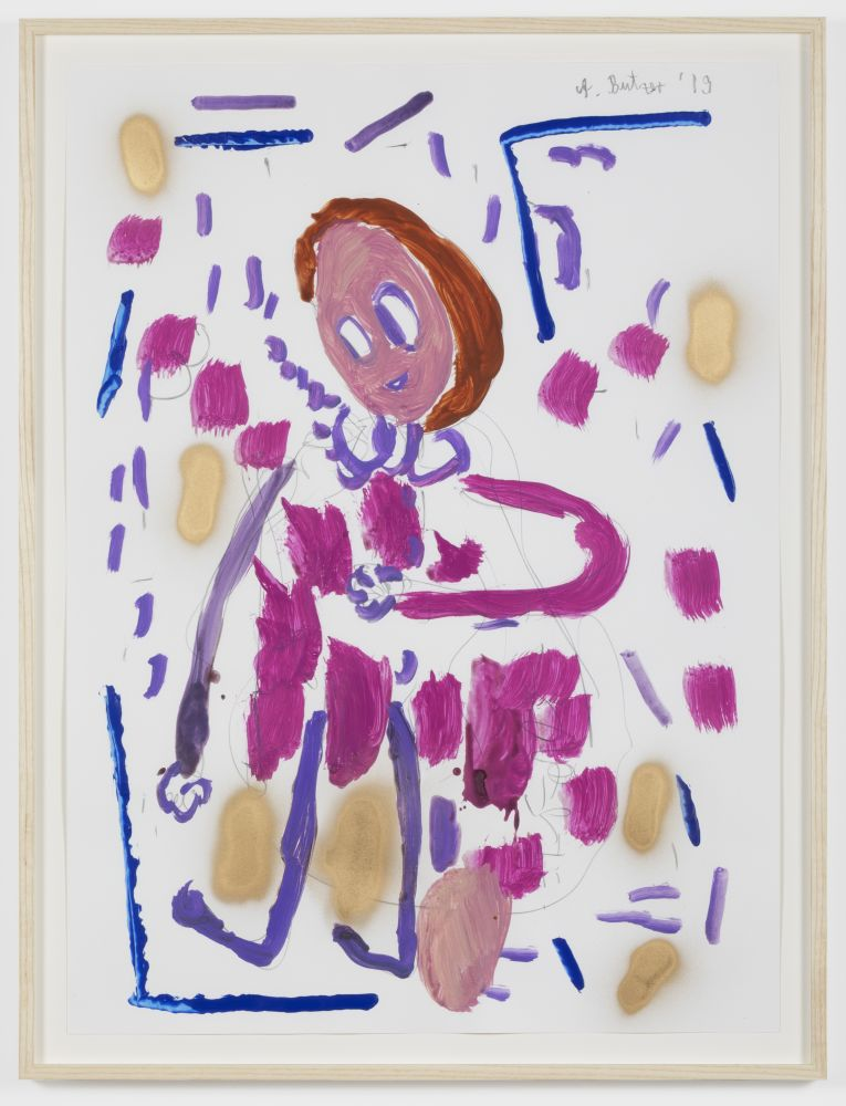 André Butzer Untitled, 2019 Acrylic and pencil on paper 30 x 22 in 76.2 x 55.9 cm 33 x 25 in, framed 83.8 x 63.5 cm, framed (AB20.005)