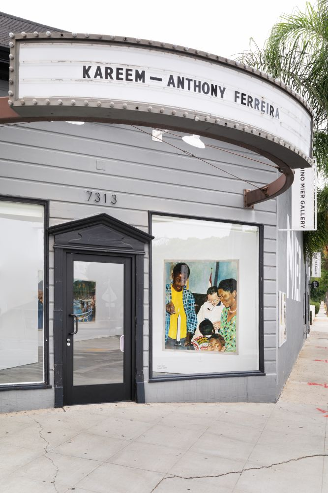 Installation View of Kareem-Anthony Ferreira: First Foundation (September 12–October3, 2020). Nino Mier Gallery, Los Angeles, CA