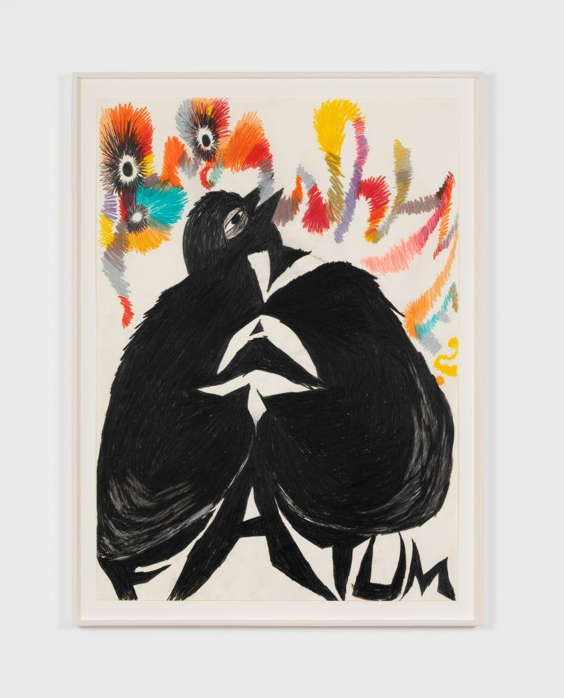 Bendix Harms VATA Fatum (Why Me), 2019 Wax crayon on paper 27 1/2 x 19 3/4 in 70 x 50 cm (BHA20.014)