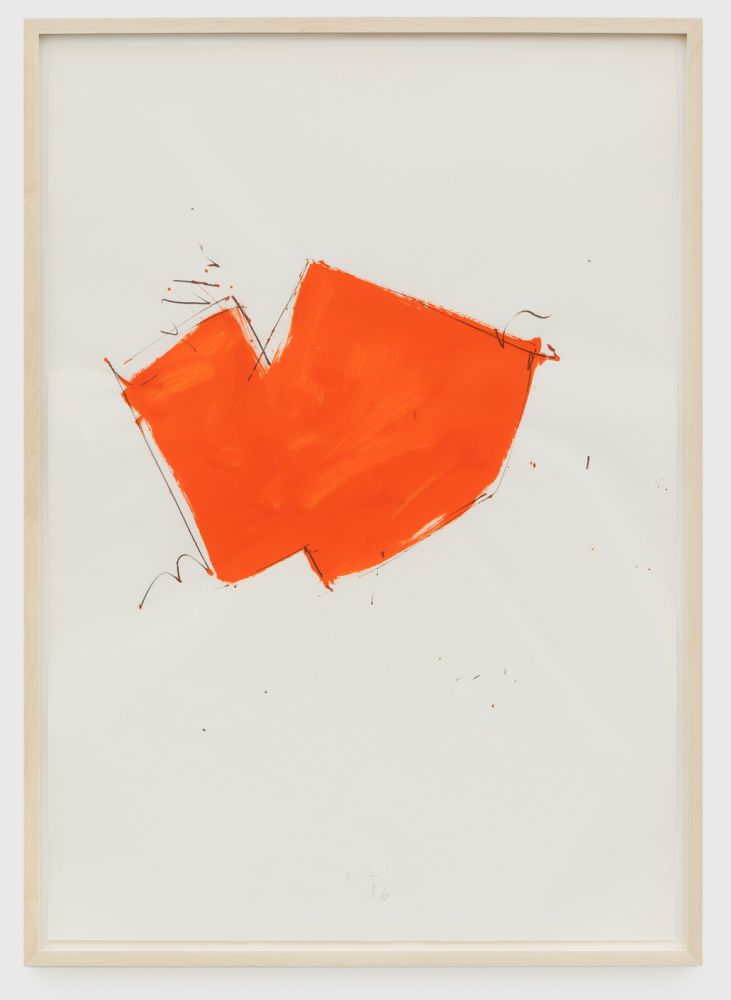 Imi Knoebel Untitled, 1976 Oil and graphite on paper 39 3/8 x 27 1/2 in 100 x 69.8 cm (IK76.013)