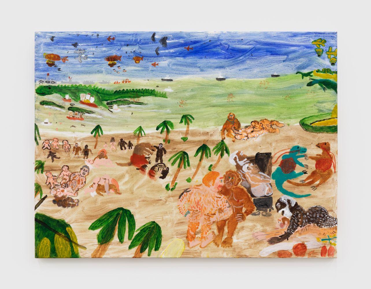 Raynes Birkbeck, Bill Halsey's Stigmata, 2020. Oil and acrylic on canvas, 36 x 48 in, 91.4 x 121.9 cm (RBI20.006)