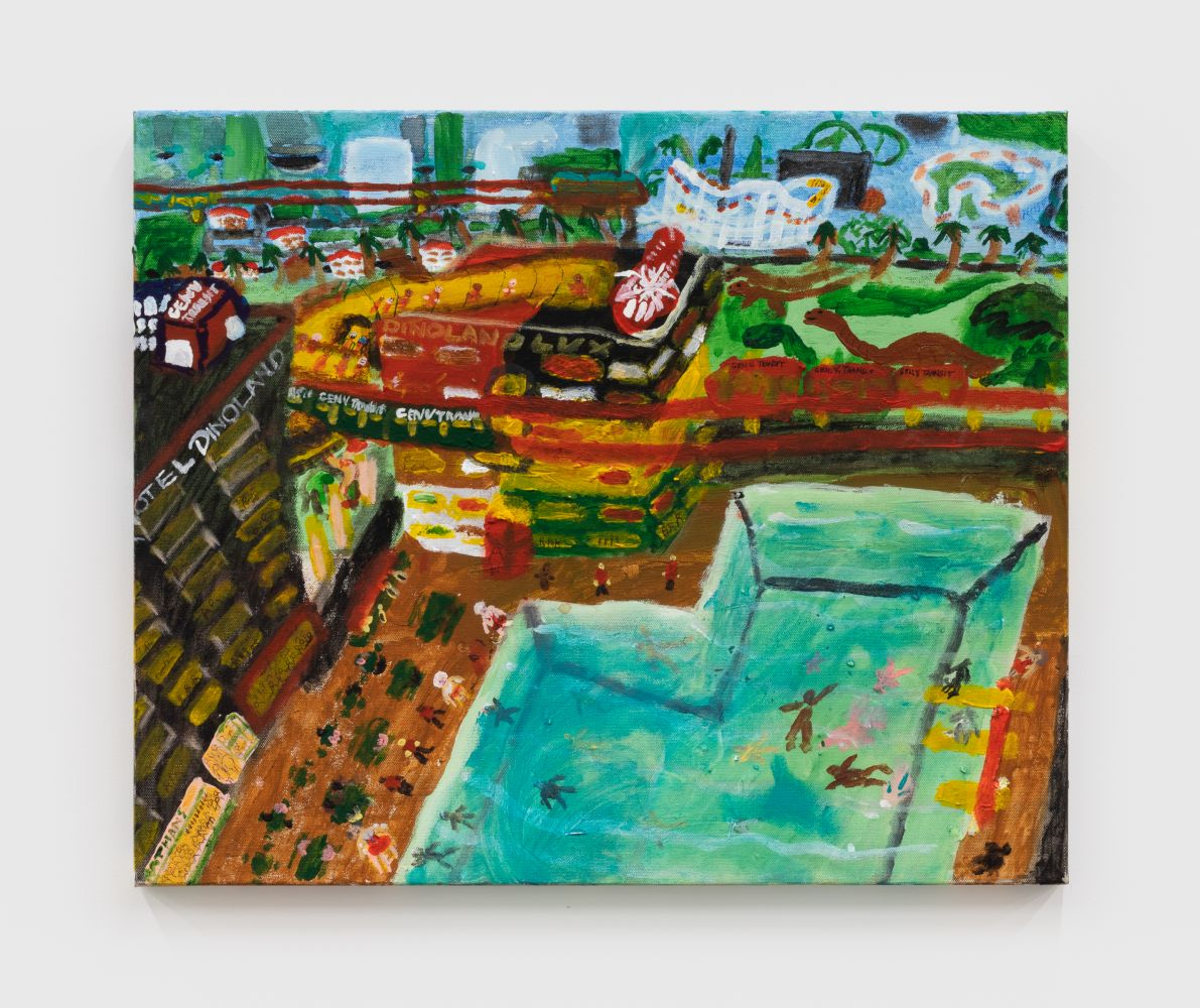 Raynes Birkbeck Dinoland Visitor's Center, 2020 Oil and acrylic on canvas 20 x 24 in 50.8 x 61 cm (RBI20.009)
