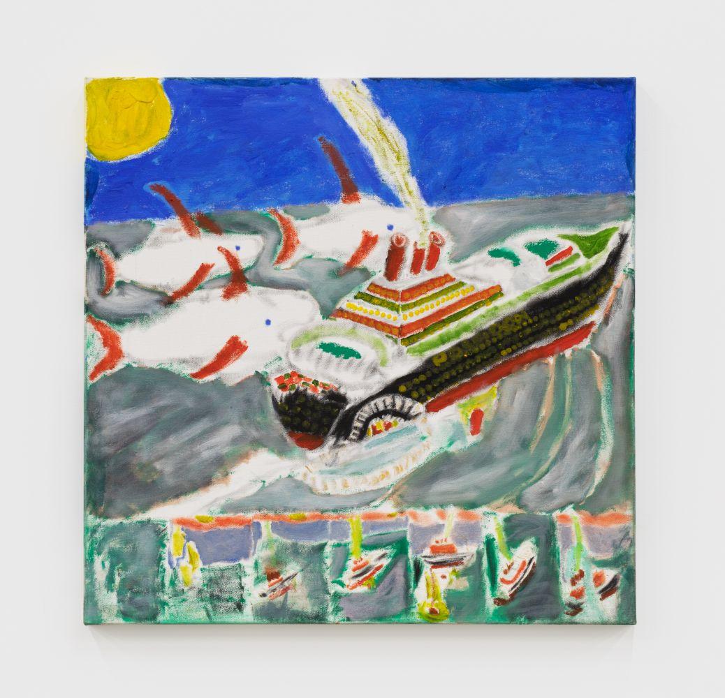 Raynes Birkbeck The Rising of Poseidon II, 2019 Oil and acrylic on canvas 24 x 24 in 61 x 61 cm (RBI20.017)