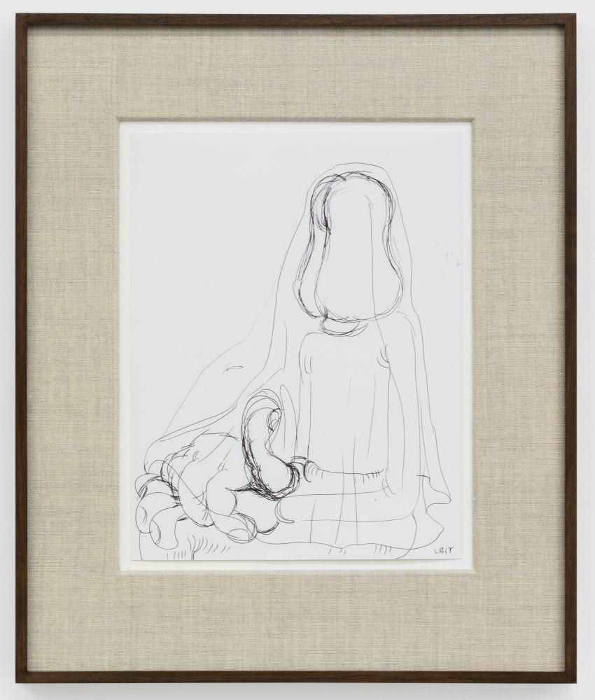 Louise Bonnet Untitled, 2017 Ink on paper 11 x 8 1/2 in 27.9 x 21.6 cm (LB20.021)