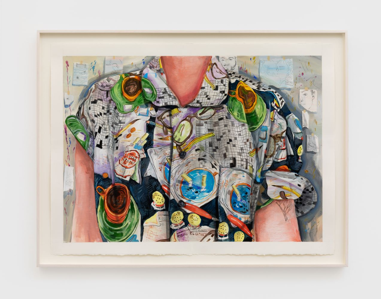 Rebecca Ness Shirt Study, 2020 Gouache and pencil on paper 22 x 30 in 55.9 x 76.2 cm (RNE20.005)