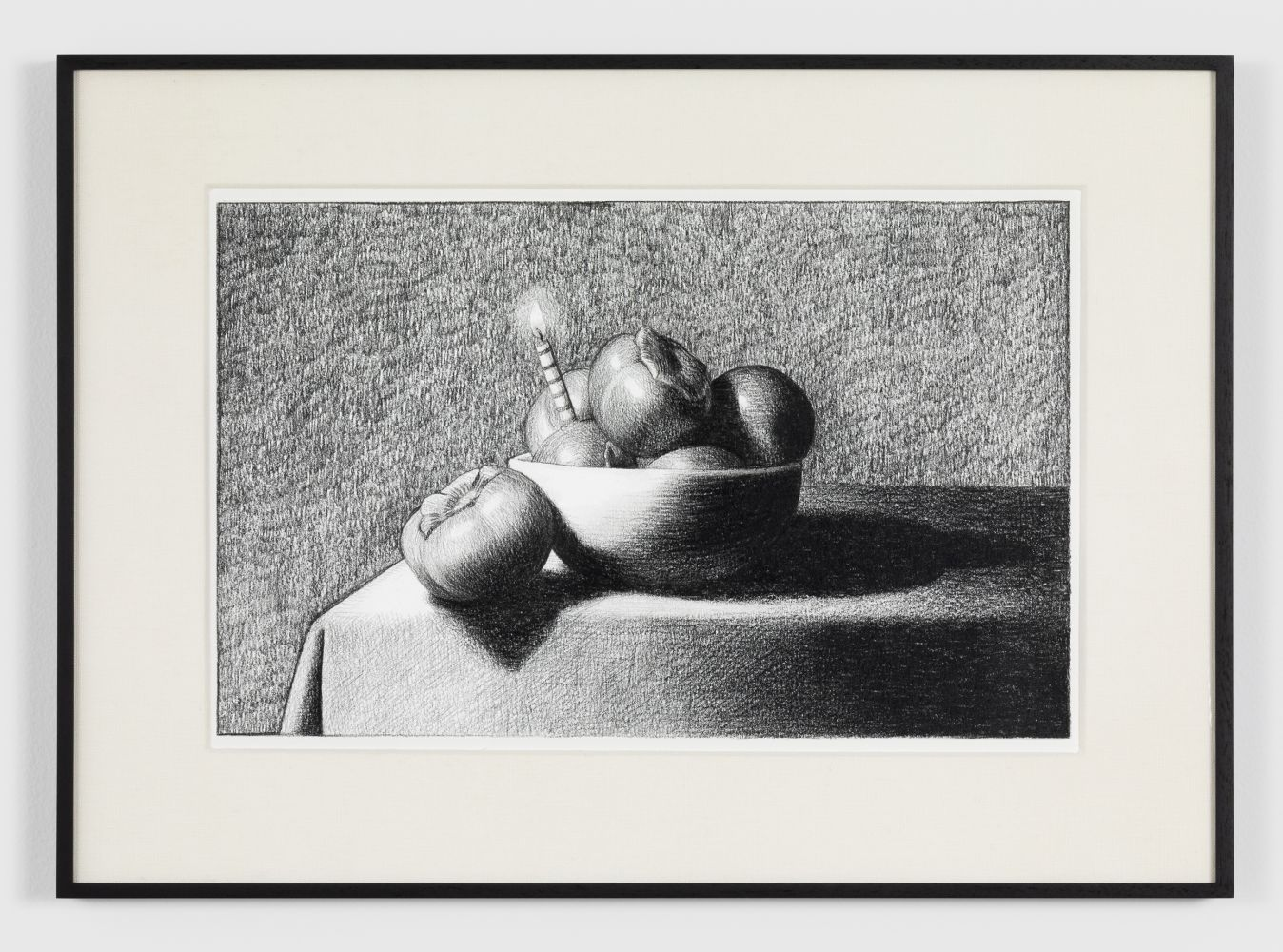 Anna Weyant Untitled, 2020 Graphite on paper 7 1/2 x 11 in, 19.1 x 27.9 cm (unframed) 13 x 17 in, 33 x 43.2 cm (framed) (AW20.004)