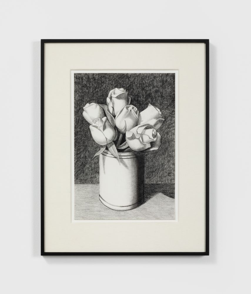 Anna Weyant Untitled, 2020 Graphite on paper 13 x 9 in, 33 x 22.9 cm (unframed) 19 x 15 in, 48.3 x 38.1 cm (framed) (AW20.002)