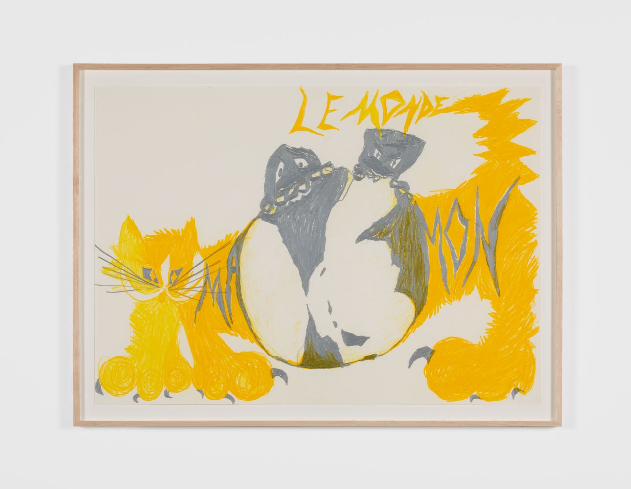 BENDIX HARMS Le Monde Mamon, 2020 Wax crayon on paper 19 3/4 x 27 1/2 in 50 x 70 cm (BHA20.020)