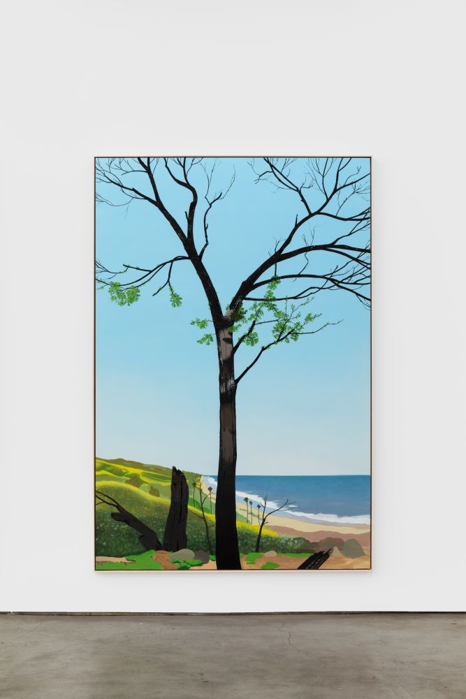 Jake Longstreth In Malibu (New Growth 2), 2020 oil on muslin 84 x 57 in (85 x 57.25 in, framed) 213.4 x 144.8 cm (216 x 145.5 cm, framed) (JLO20.002)