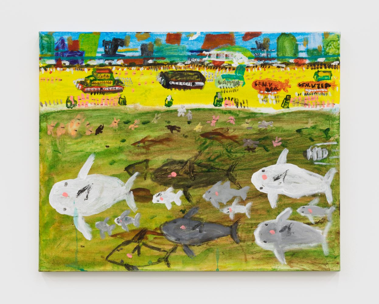 Raynes Birkbeck, Whale Watch, 2020. Oil and acrylic on canvas, 16 x 20 in, 40.6 x 50.8 cm (RBI20.011)