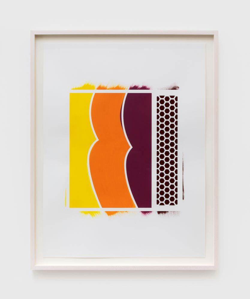 Thomas Wachholz Fresko, 2020 Acrylic and red phosphorous on paper 24 3/4 x 18 3/4 in 63 x 47.5 cm (TW20.035)