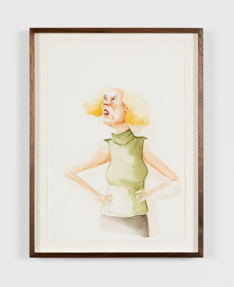 Madeleine Pfull Green Turtleneck, 2020 Gouache on paper 8 1/4 x 11 3/4 in 21 x 29.7 cm (MPF20.011)