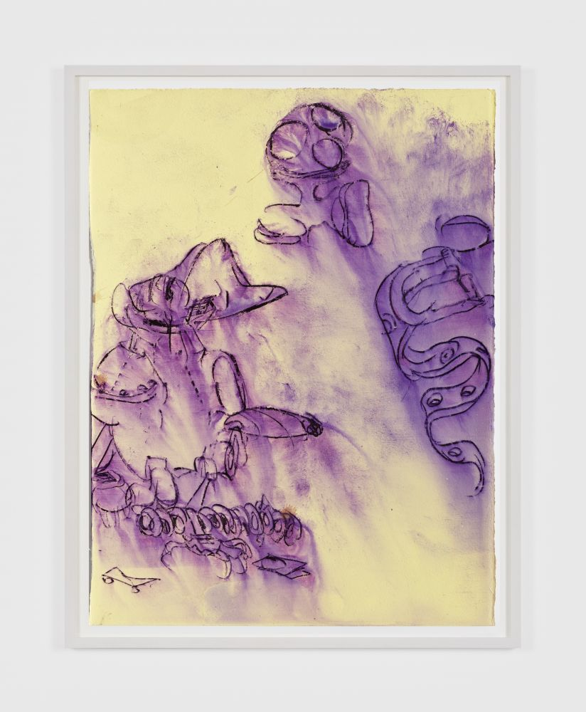 Antwan Horfee Grinchet Jones 2 , 2021 Acrylic and chemical ink on paper 15 x 11 1/8 in 38 x 28 cm (HOR21.019)