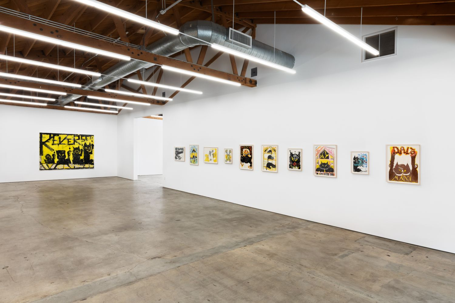 Installation View of Bendix Harms: Reversed Evolution—How it feels to be Mamon (September 12–October 10, 2020) Nino Mier Gallery, Los Angeles, CA