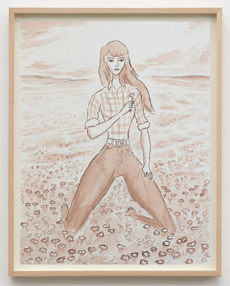 Jansson Stegner, TBT, 2017. Pen and ink wash on paper, 10 3/4 x 8 1/4 in, 27.3 x 21 cm (JAS17.021)