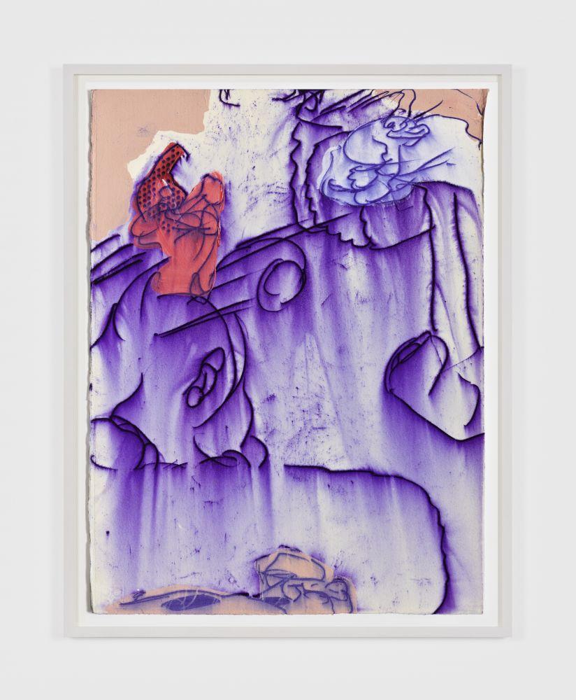 Antwan Horfee Grinchet Jones 1, 2021 Acrylic and chemical ink on paper 15 x 11 1/8 in 38 x 28 cm (HOR21.020)