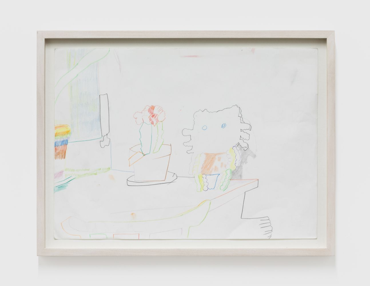 Gerlind Zeilner Hello K, 2019 Ink and colored pencil on paper 9 1/2 x 13 in 24 x 33 cm (GZE20.014)
