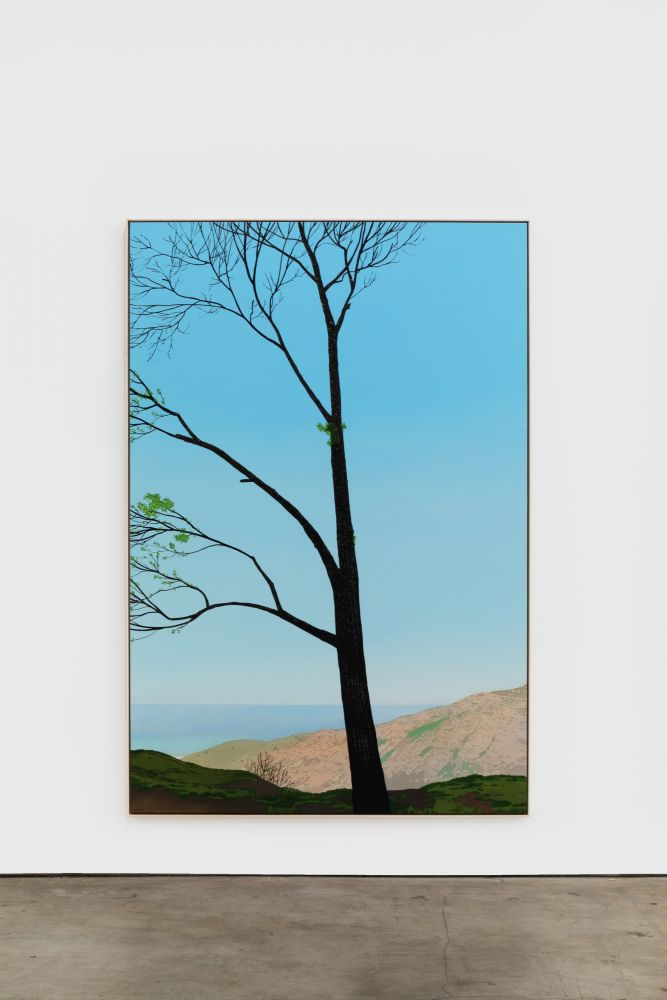 Jake Longstreth In Malibu (New Growth 1), 2020 oil on muslin 84 x 57 in (85 x 57.25 in, framed) 213.4 x 144.8 cm (216 x 145.5 cm, framed) (JLO20.008)