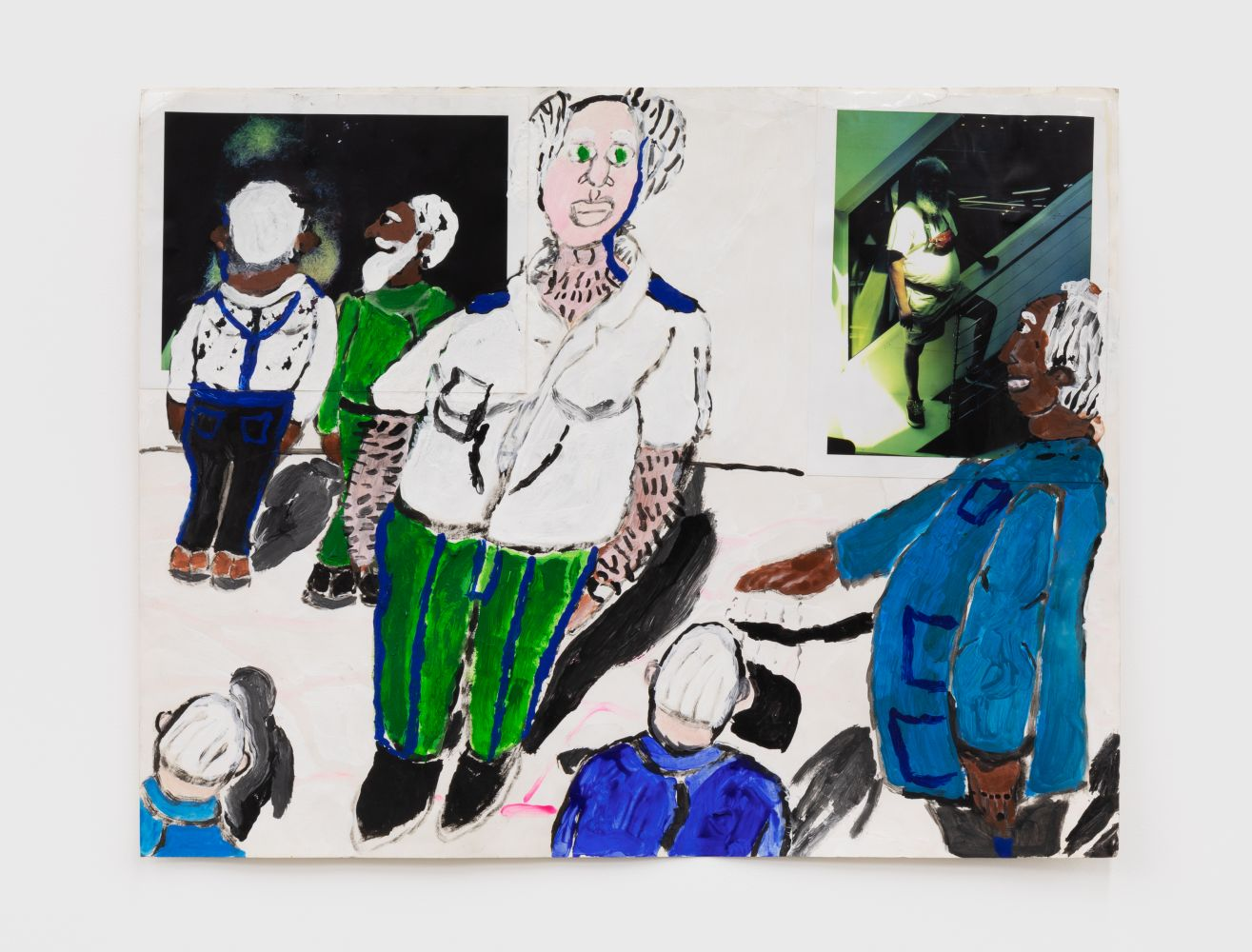 Raynes Birkbeck, Self portrait with Bad Billy, 2020. Mixed Media, 22 x 28 in, 55.9 x 71.1 cm (RBI20.004)