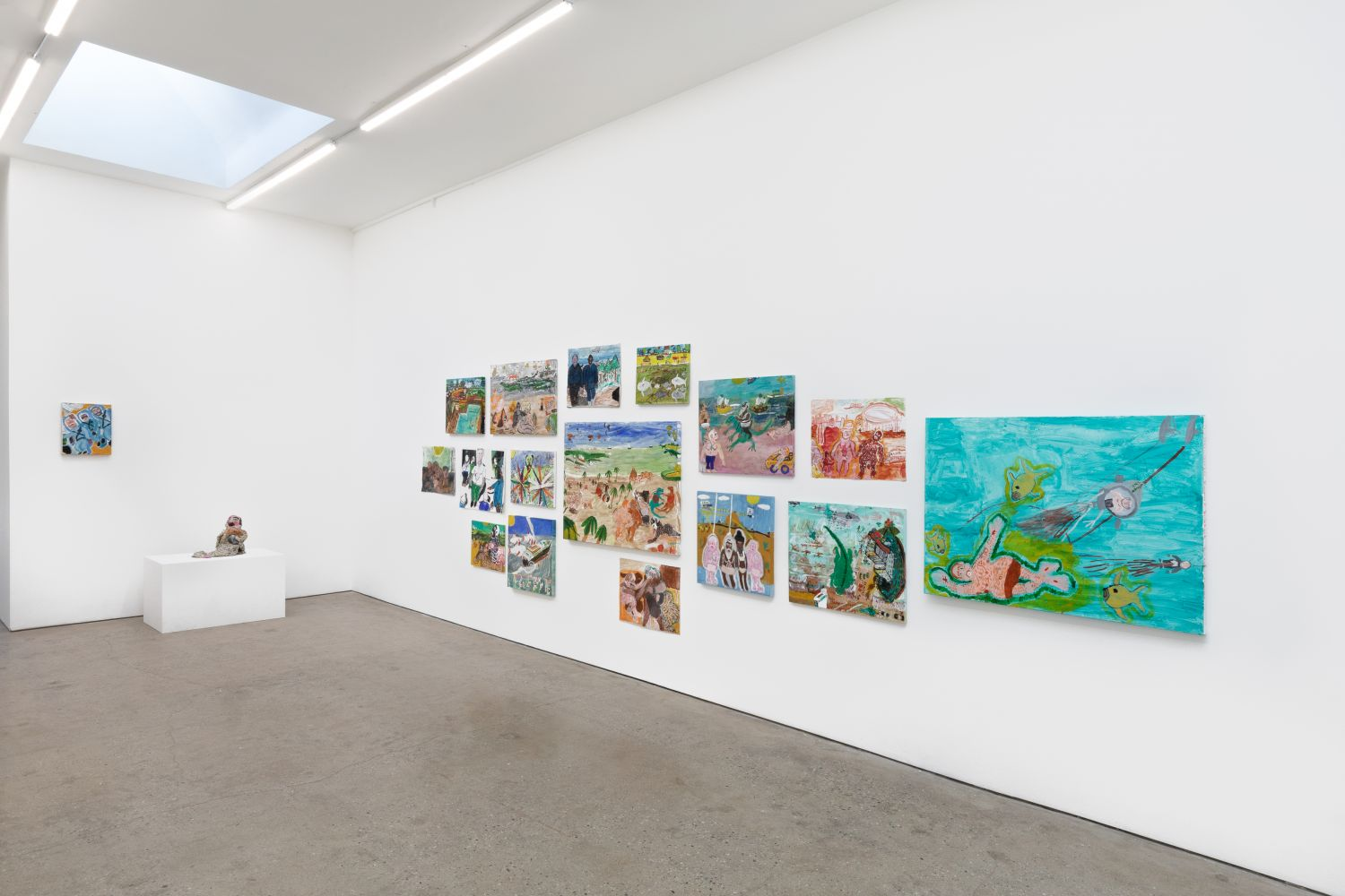 Installation View of Raynes Birkbeck, The World View Show (May 20–June 30, 2020) Nino Mier Gallery, Los Angeles, CA