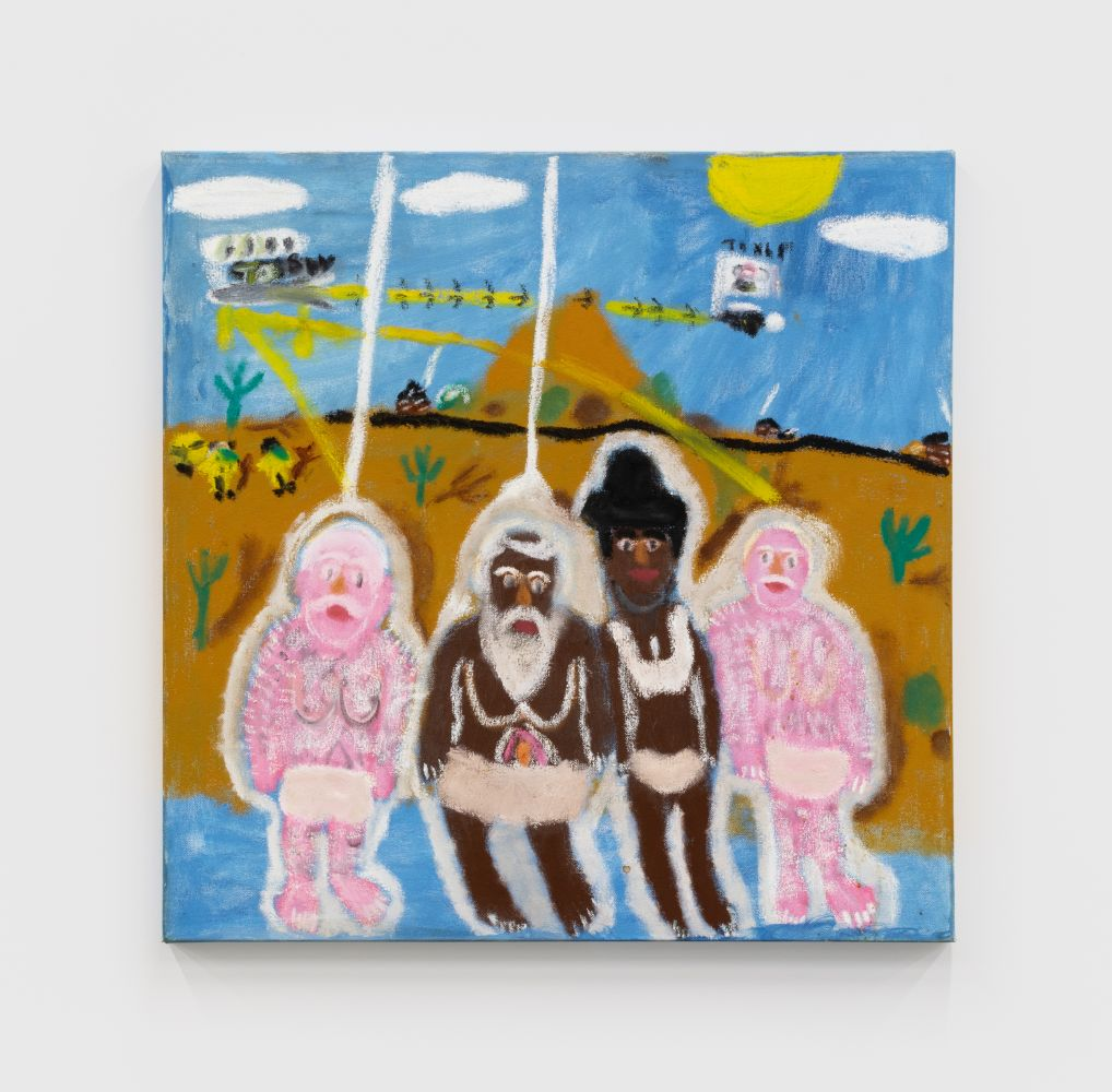 Raynes Birkbeck, Quartet, 2019. Oil and acrylic on canvas, 24 x 24 in, 61 x 61 cm (RBI20.012)