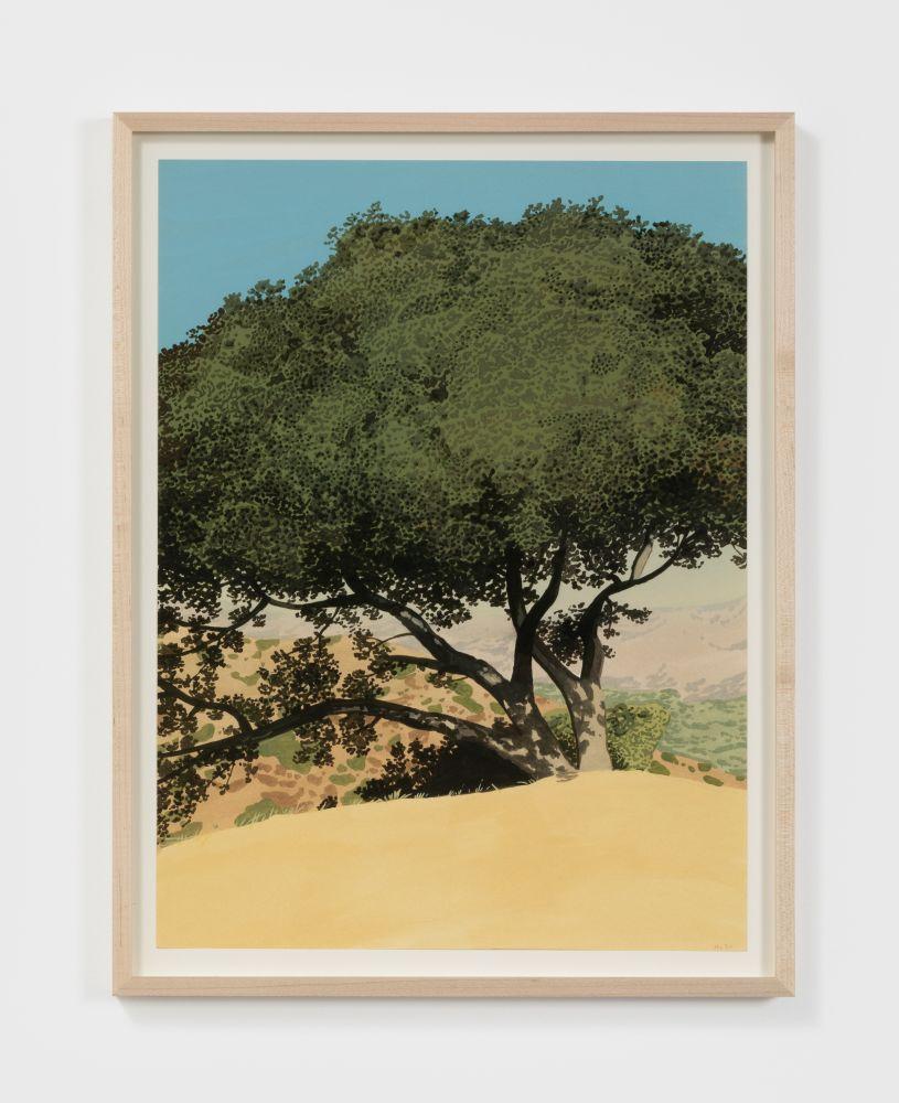 Jake Longstreth Untitled, 2020 Oil on watercolor paper 20 x 15 in 50.8 x 38.1 cm (JLO20.029)