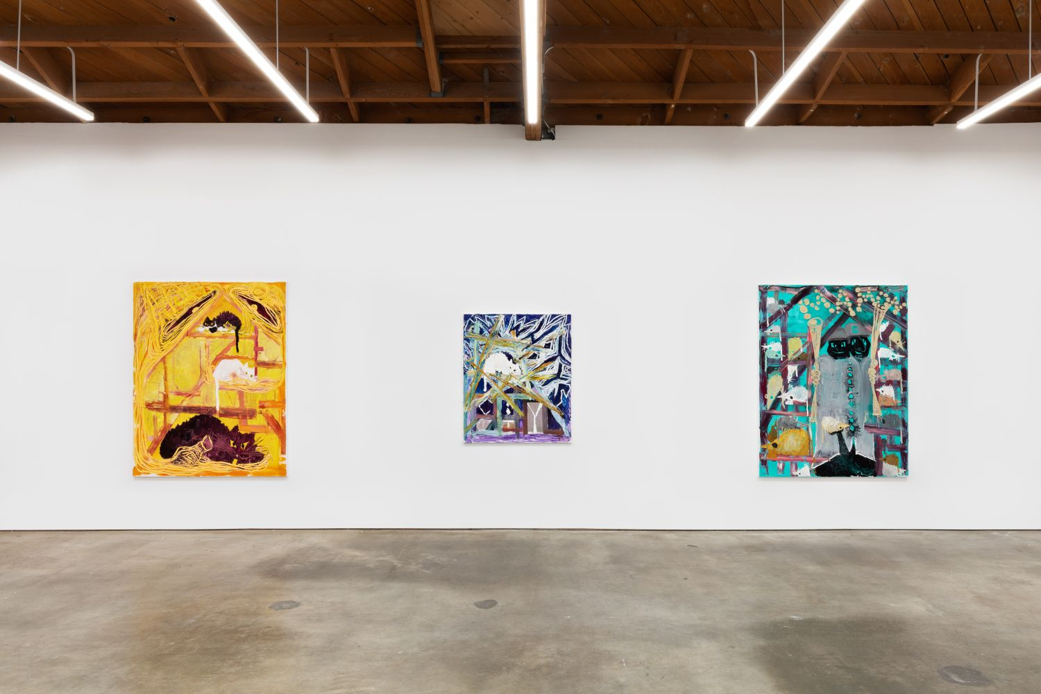 Installation View of Bendix Harms: Reversed Evolution—How it feels to be Mamon (September 12–October 17, 2020) Nino Mier Gallery, Los Angeles, CA