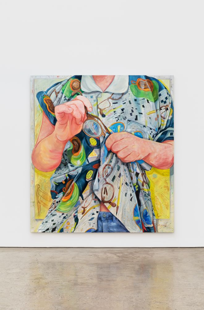 Rebecca Ness, Schmutz, 2020. Oil on linen, 83 x 90 1/2 in, 210.8 x 229.9 cm (RNE20.011)