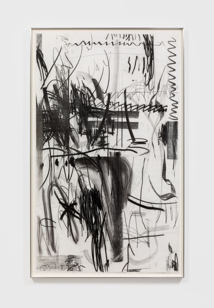 Andreas Breunig Untitled, 2018. Graphite and charcoal on paper 66 1/8 x 39 3/8 in 168 x 100 cm (ABR20.005)