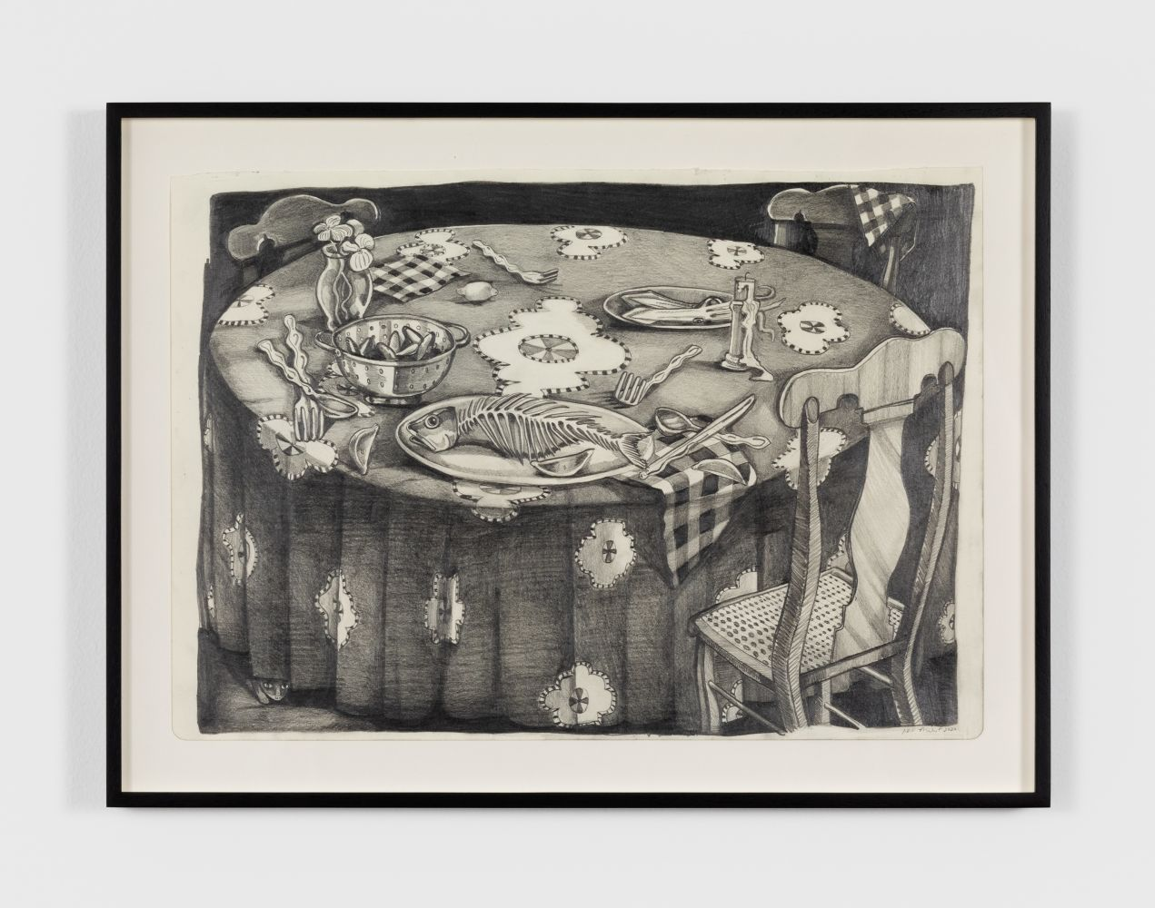 Nikki Maloof Table Study, 2020 Graphite on paper 12 x 18 in 30.5 x 45.7 cm (NMA20.005)