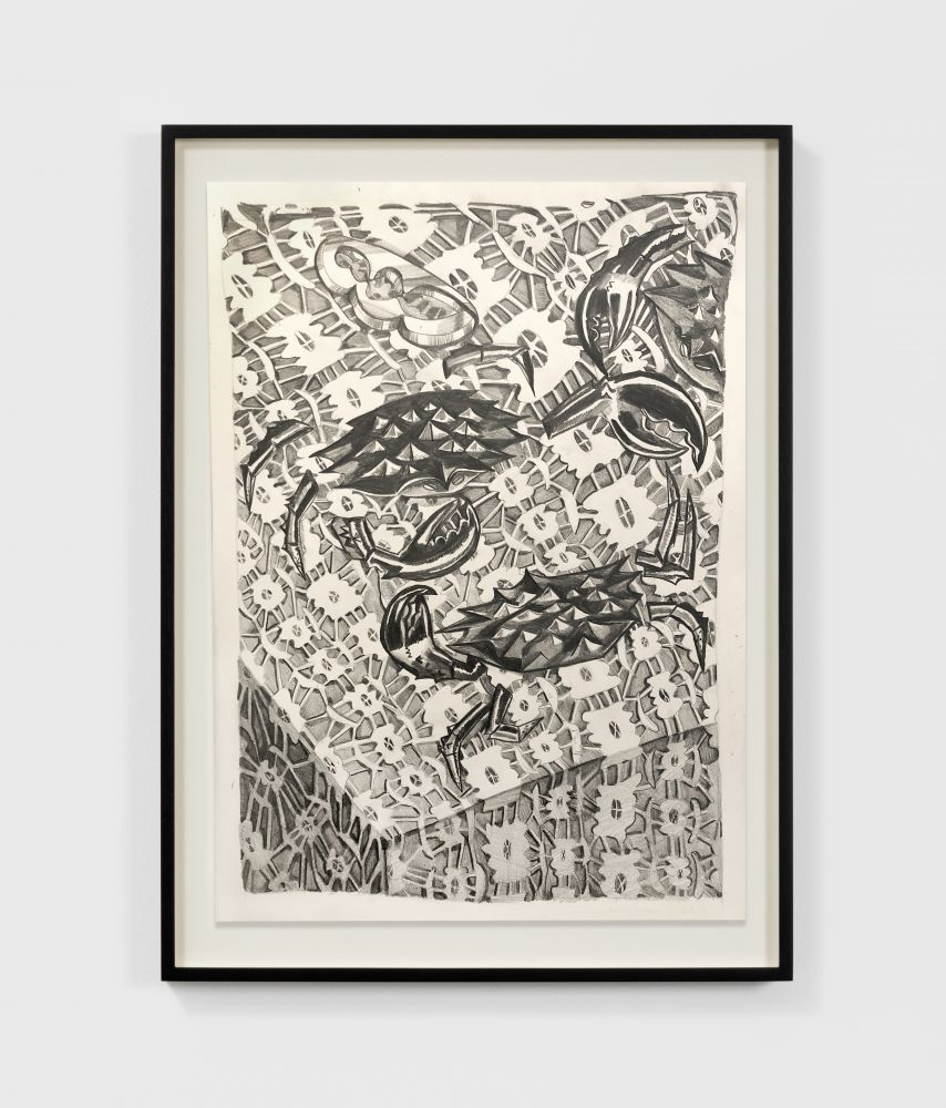 Nikki Maloof Crab Study, 2020 Graphite on paper 16 x 11 in 40.6 x 27.9 cm (NMA20.028)