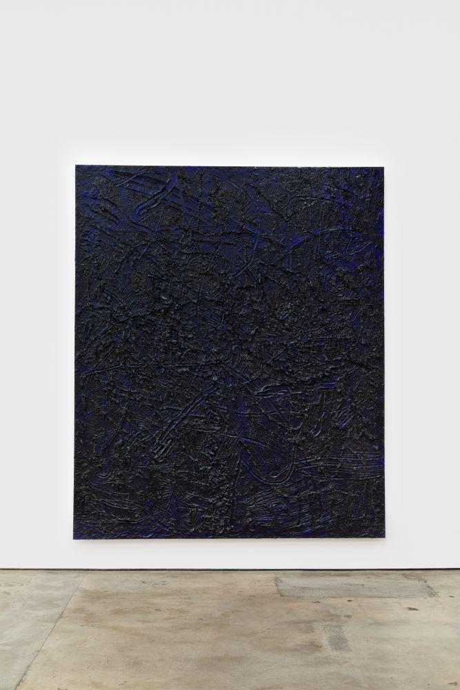 Jana Schröder Kinkrustation PB13, 2016 Papermaché, acrylic, and oil on canvas 94 1/2 x 78 3/4 in 240 x 200 cm (JSR16.006)
