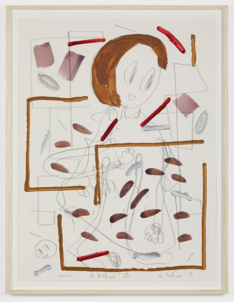 André Butzer Untitled, 2019. Acrylic and graphite on paper 30 x 22 in 76.2 x 55.9 cm 33 x 25 in, framed 83.8 x 63.5 cm, framed (AB20.007)