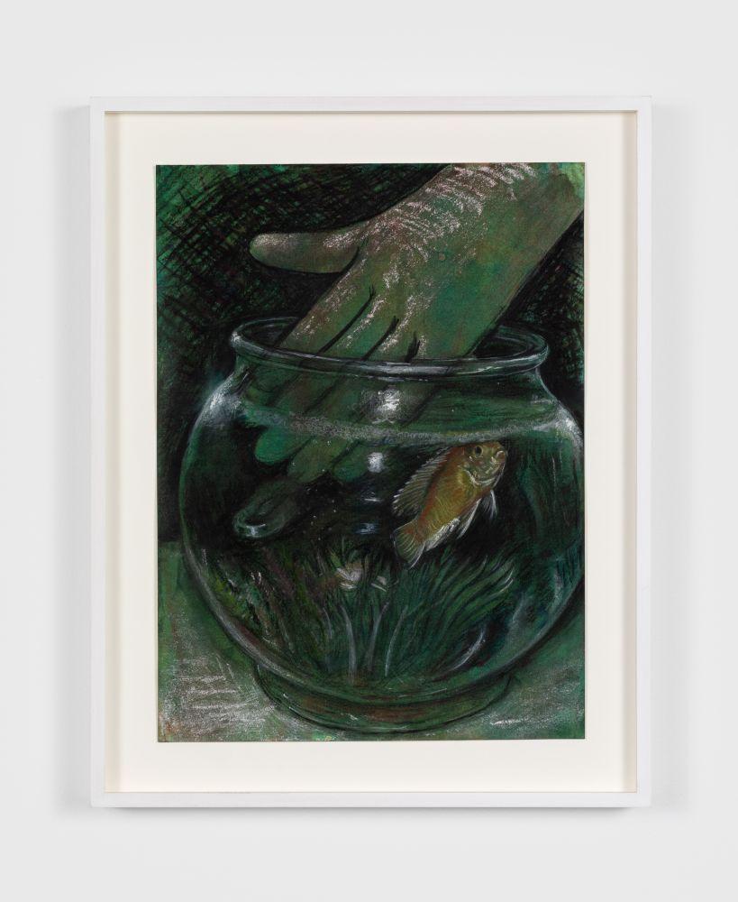 Trey Abdella Untitled , 2020 Pastel and Acrylic on Paper 12 x 9 in 30.5 x 22.9 cm (TAB20.002)