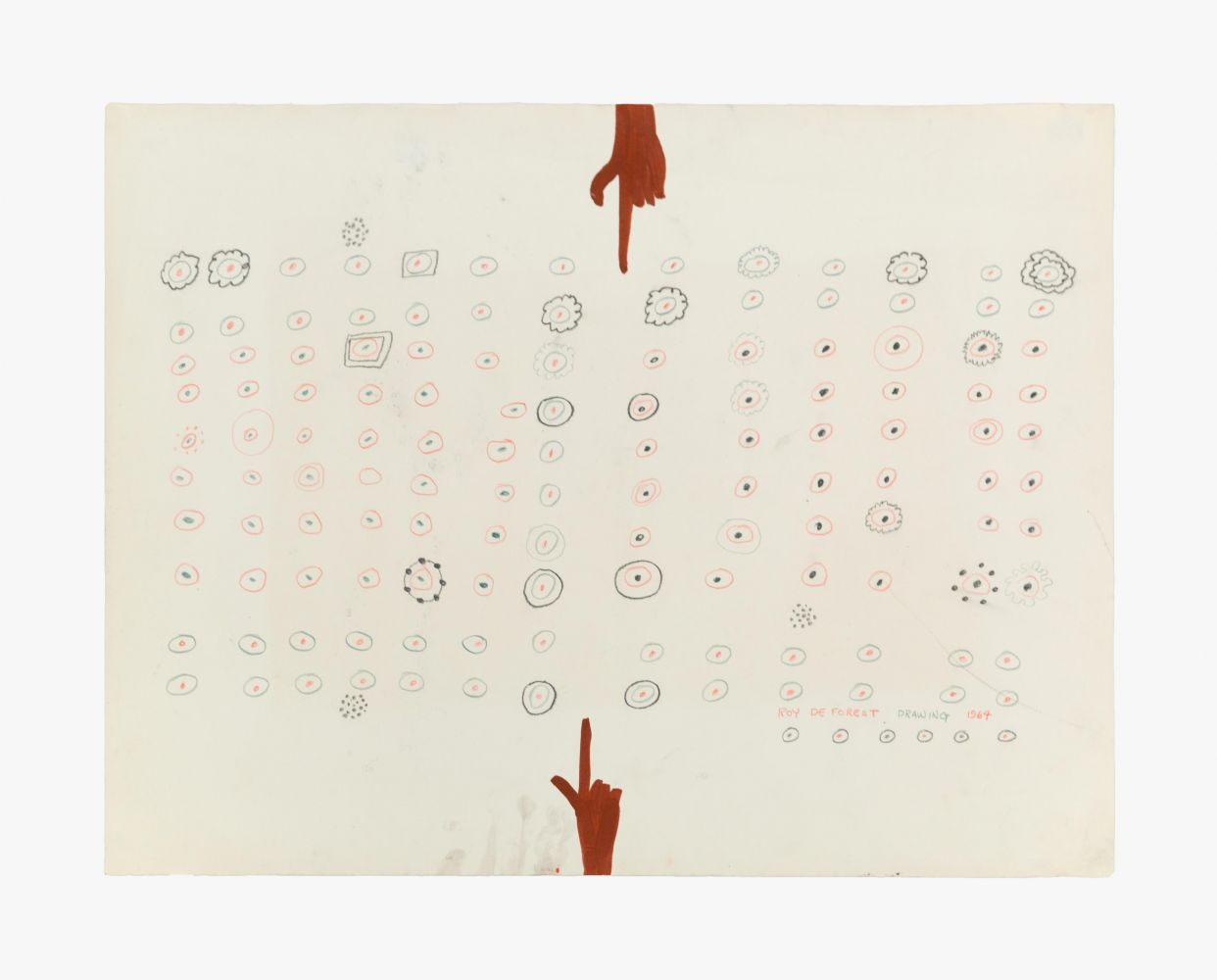 Roy De Forest Drawing, 1964