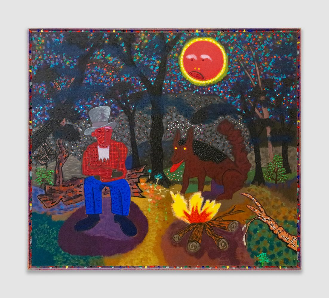 Roy De Forest Campfire by Moonlight, 1986