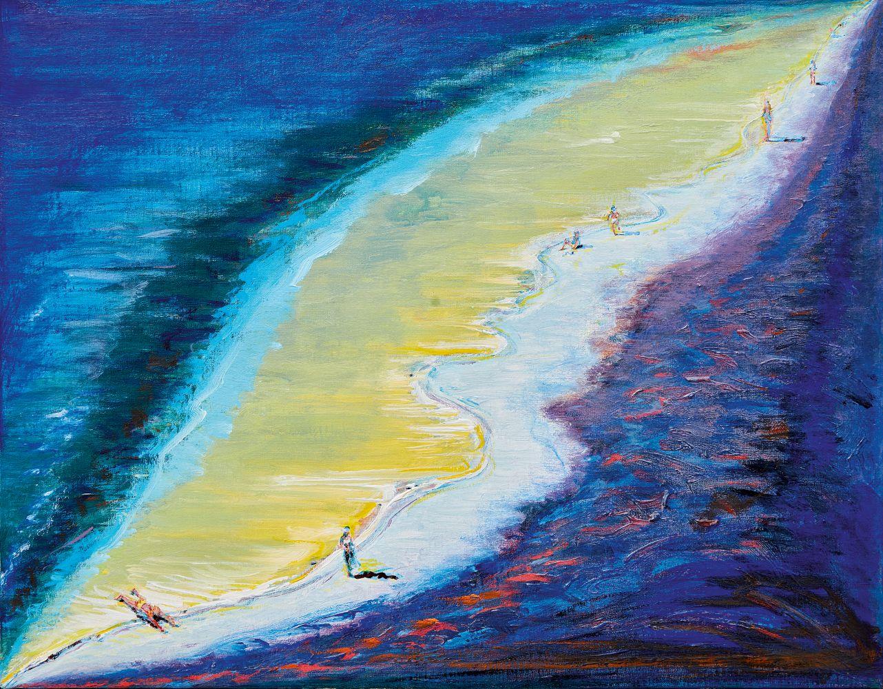 """Wayne Thiebaud, """"Dark Beach,"""" 2003/2020"""