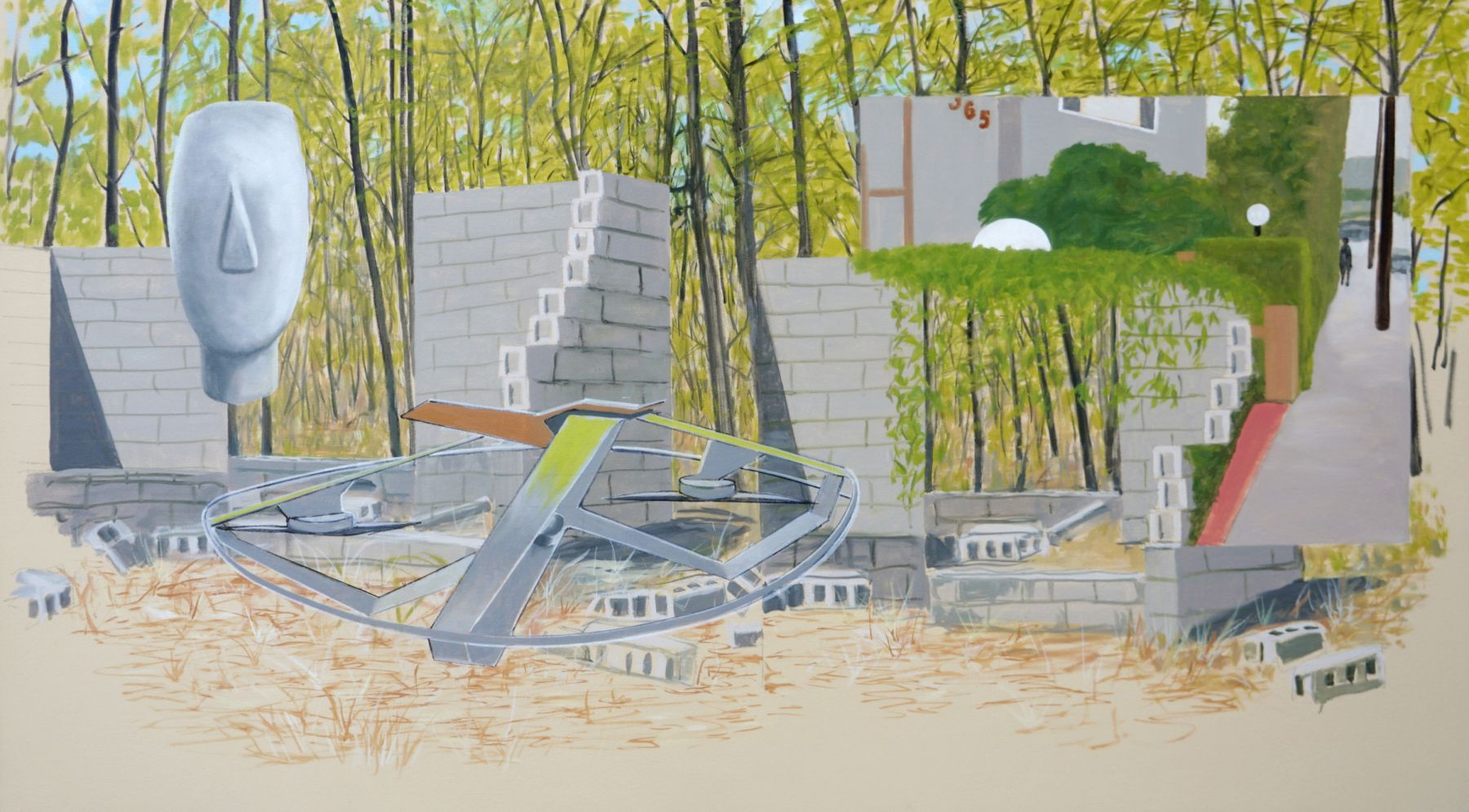 William Leavitt, Pumphouse Ruins, 2020