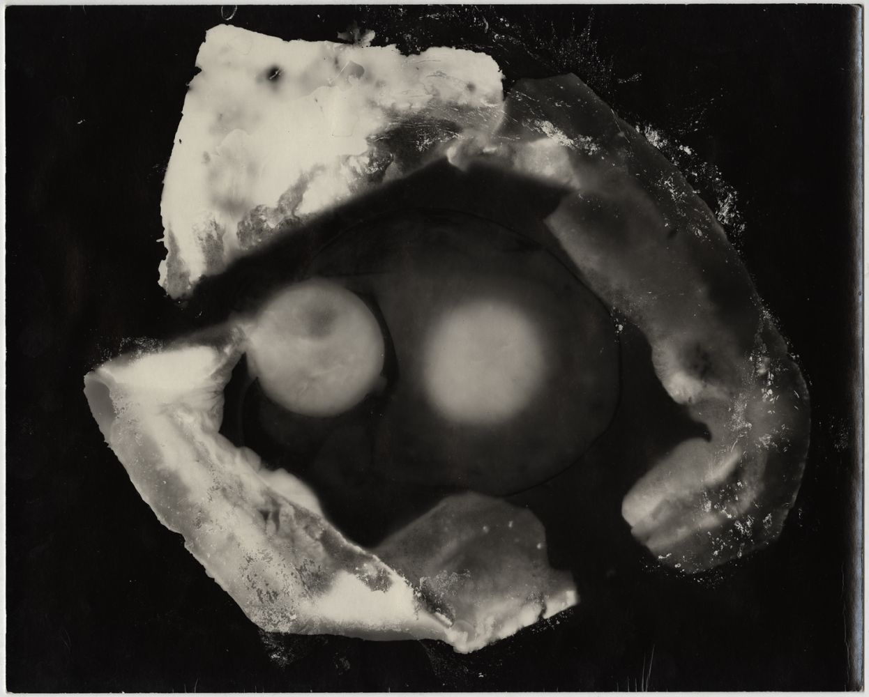 Documentary Photogram #13 (Breakfast/Bacon, Egg, Toast), 1971 Silver gelatin print 8 x 10 inches