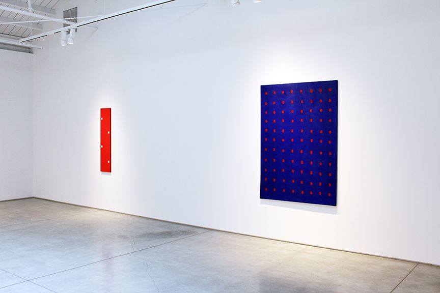 Robert Barry Paintings and Works on Paper from the 1960s, installation view