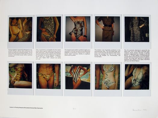 Lessons in Posing Subjects, Simulated Animal Skin Garments, 1982