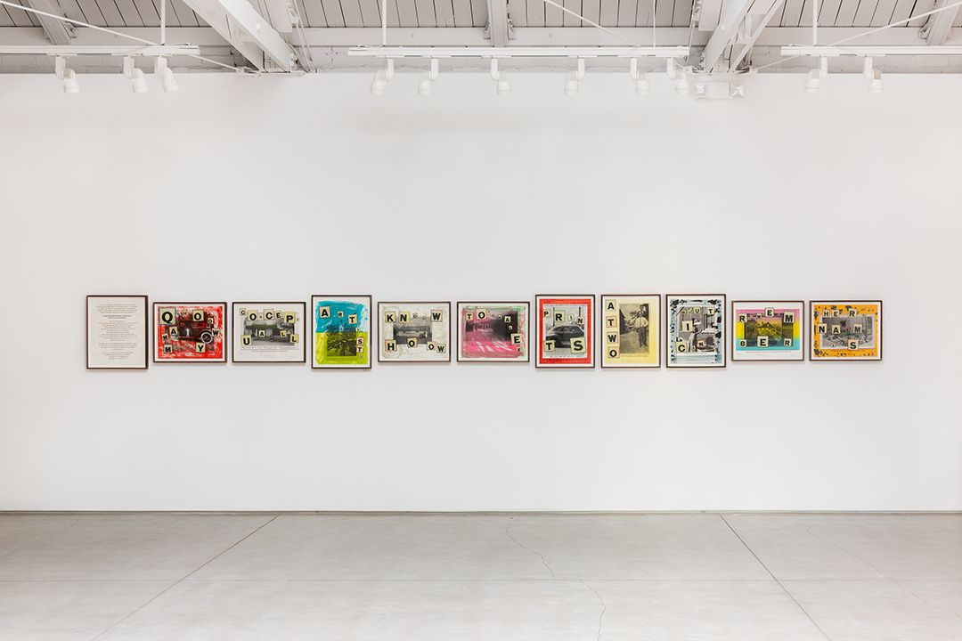 Allen Ruppersberg What a Strange Day it has Been​, installation view