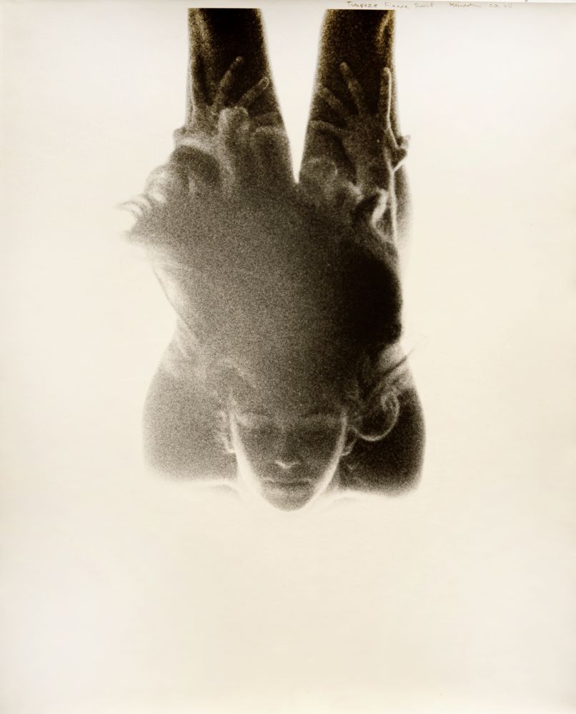 Trapeze Figure Work, 1964 Silver Gelatin Print  19 ½ x 14 ¼ inches