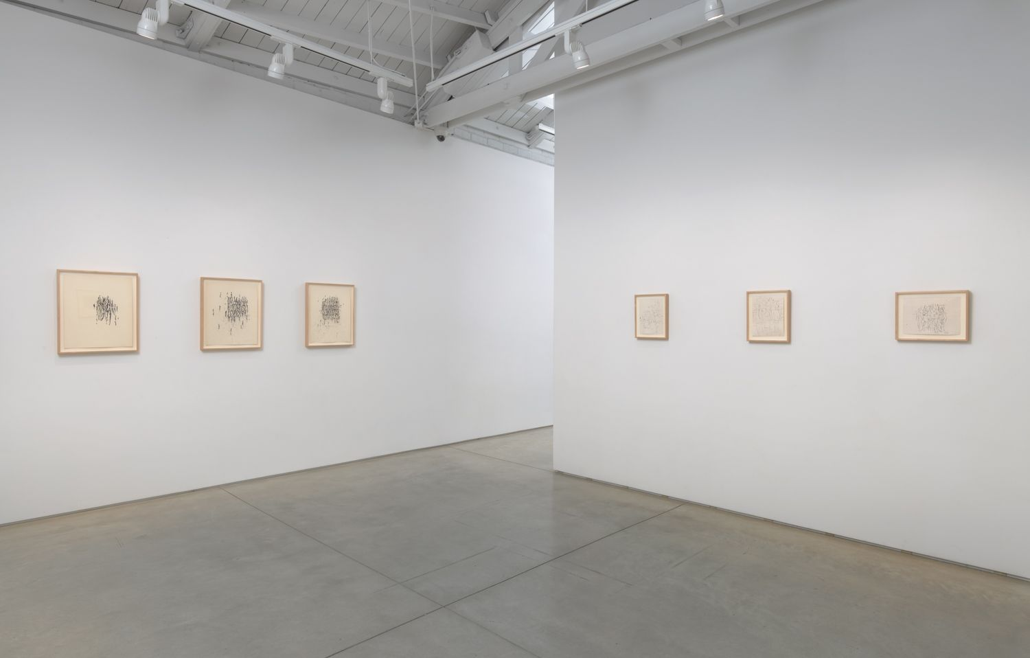 Craig Kauffman Drawings from 1958-9, installation view