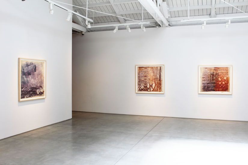 "Sari Dienes ""Dear Sid, with Love"" The Hollywood Rubbings​, installation view"