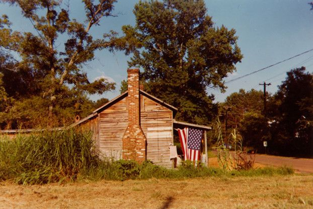 House with Flag, Greensboro, Alabama, 1977